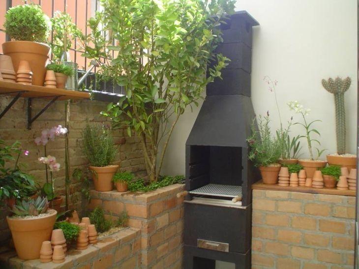 Churrasqueira pr moldada boa op o para uma rea for Jardines pequenos para casas modernas