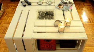 Faça você mesmo: transforme caixotes de feira em uma linda mesa de centro