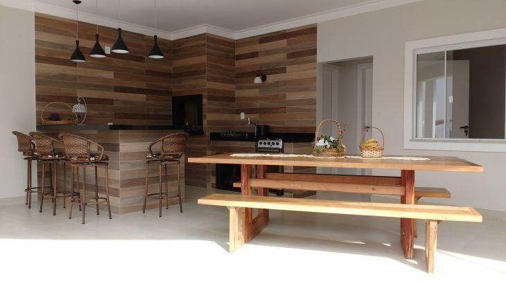 Preferência Porcelanato que imita madeira: 60 fotos de ambientes super elegantes LK59