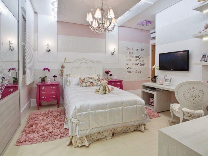 50 quartos de princesa decorados para você ficar encantada ~ Tipos De Bancada Para Quarto
