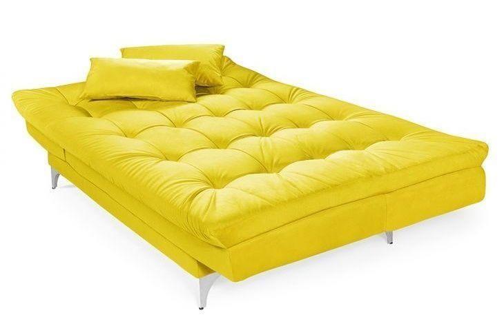 Sof cama aprenda a usar a pe a na decora o de casa - Sofa cama verde ...