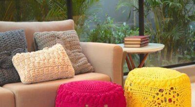 Quer deixar a sua casa bem graciosa? Aposte nas almofadas de crochê na decoração