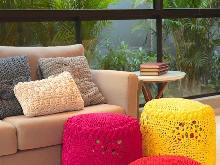 93c466375 Almofada de crochê  70 modelos e ideias para você fazer em casa