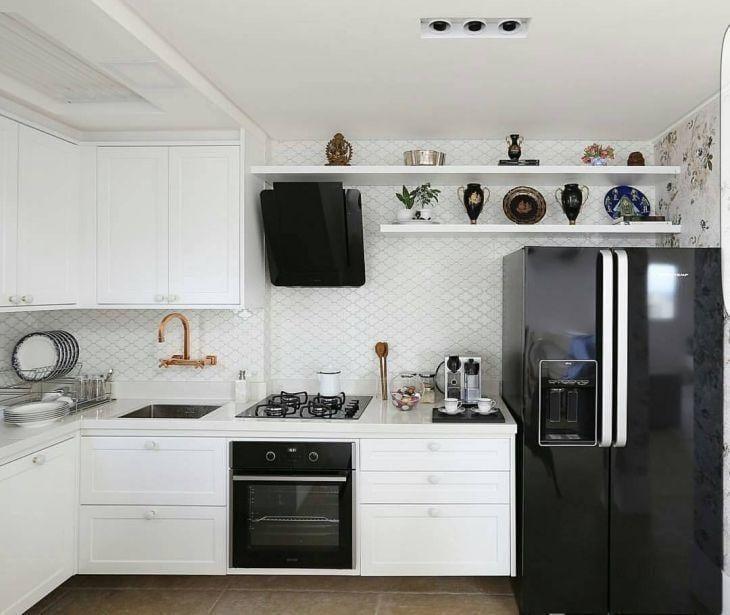 Cozinha Preta E Branca 35 Fotos Dessa Combinação Clássica Que