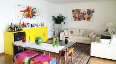 150 ideias para decorar diversos ambientes da casa com móveis coloridos