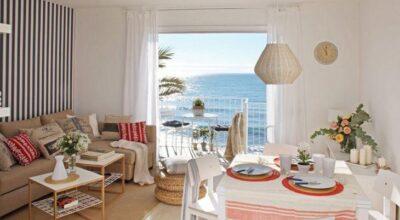 Pequeno apartamento de praia decorado para te inspirar