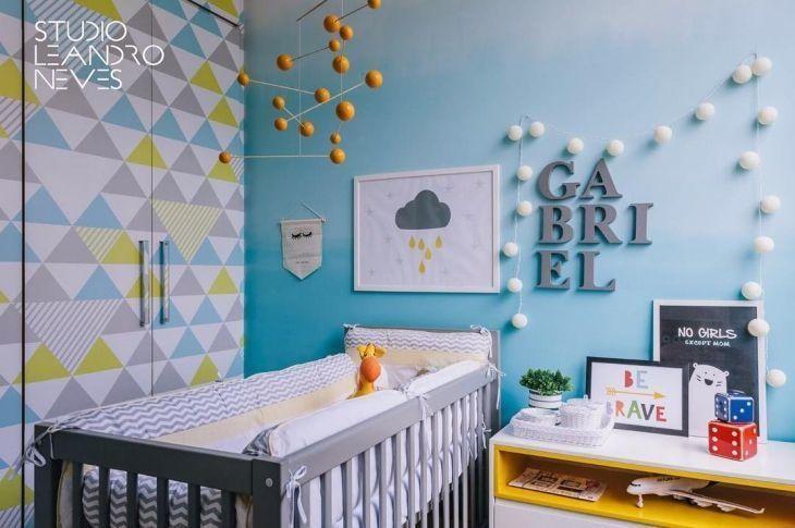 decoração de quarto bebe masculino azul