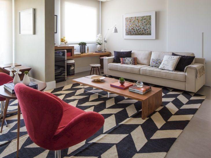 Como escolher o tapete ideal para sua sala de estar 70 for Sala de estar tapete