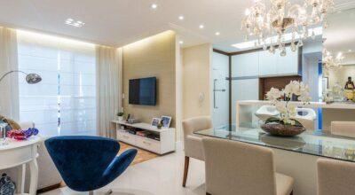 Apartamento pequeno decorado com cores claras que você vai amar