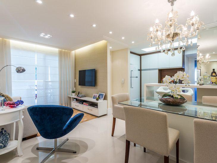 apartamento pequeno decorado com cores claras que voc vai