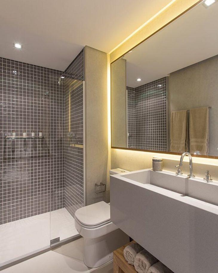 Decoração de banheiro 100 ideias para deixar o cômodo elegante -> Decoracao De Banheiro Com Material Reciclado