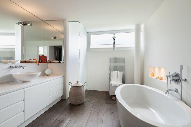 Decoração de banheiro 100 ideias para deixar o cômodo elegante -> Decoracao De Banheiro Com Banheira Antiga