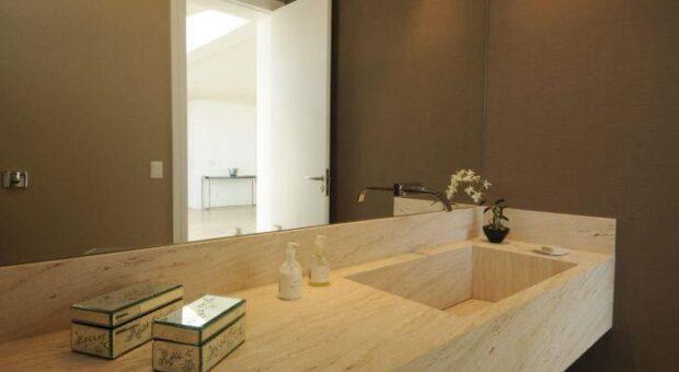 30 banheiros com cuba esculpida que você vai ficar apaixonada