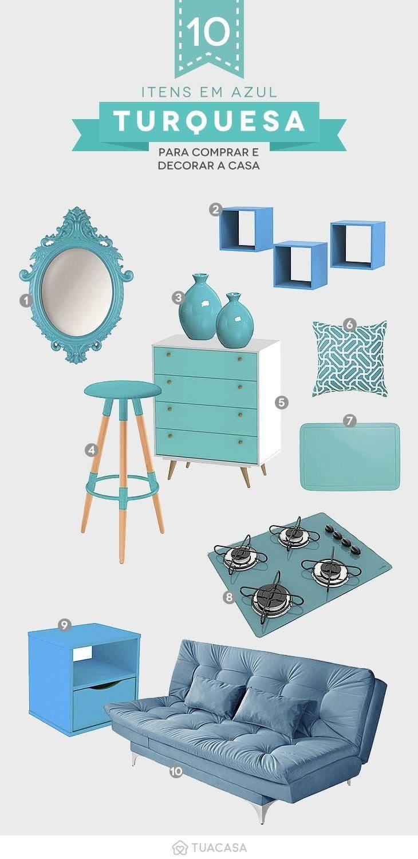 64820e59a4174 Azul turquesa: adicione requinte e tranquilidade na sua casa (55 ...