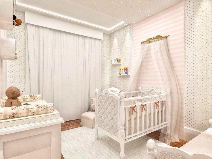 Quarto de bebê Feminino branco
