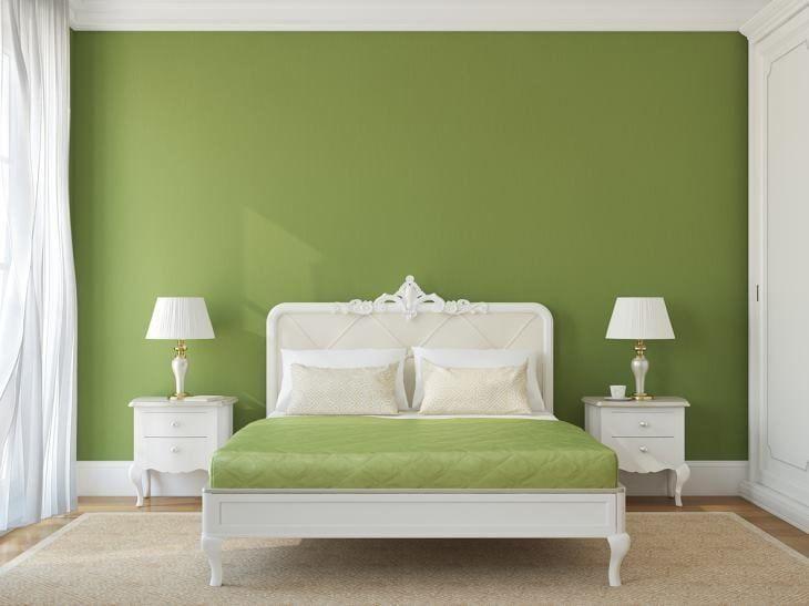 Quarto verde 40 fotos e dicas para apostar na cor para - Como pinto mi habitacion ...
