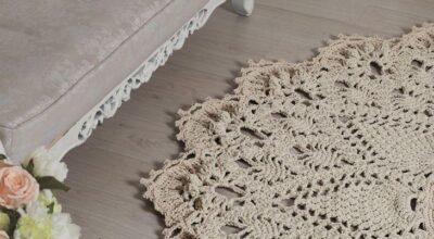 Tapetes de crochê: charme e beleza em um versátil item de decoração