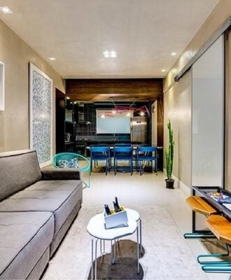 Que tal este projeto de apartamento pequeno com amplitude?