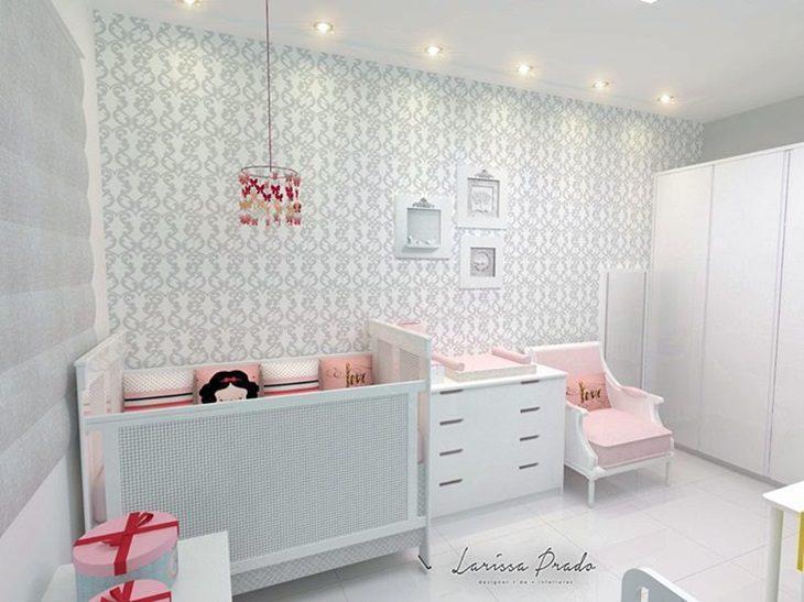 70 pap is de parede em quartos de beb s inspira o sem complica o - Papel de pared bebe ...