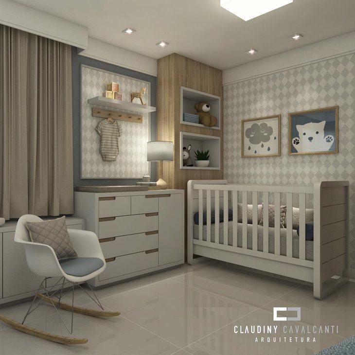 Fotos quartos de bebe decorados com papel de parede
