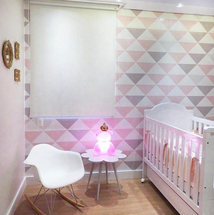 Quarto de bebe com papel de parede affordable altura - Papel de pared bebe ...