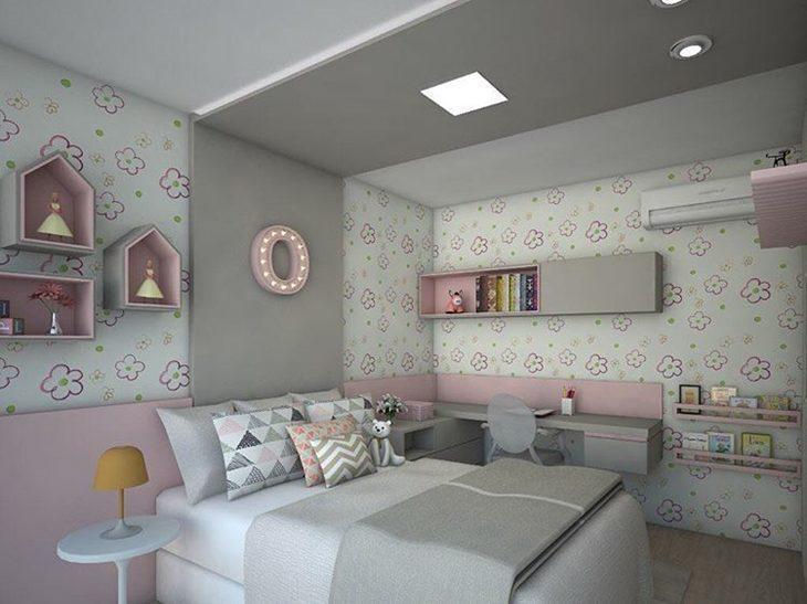 70 pap is de parede em quartos de beb s inspira o sem - Papel decorado para paredes ...