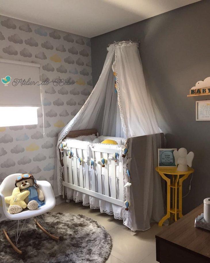 Fotos quartos de bebe decorados com papel de parede 95