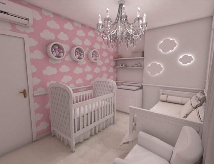 Fotos quartos de bebe decorados com papel de parede 83