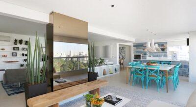 O conforto de um apartamento com área social integrada em São Paulo