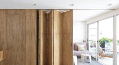 Apartamento integra os ambientes para efeito de continuidade visual