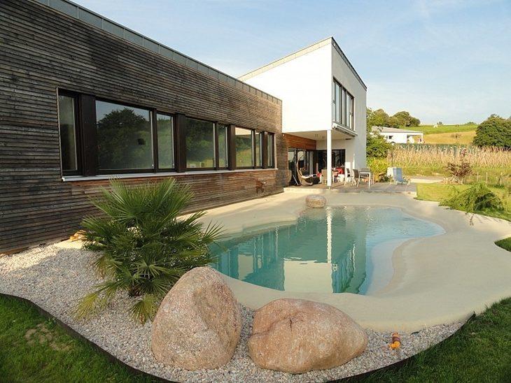 Rea de lazer com piscina 85 ideias para voc se inspirar - Piscinas de arena precios ...