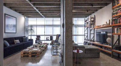 Com reforma, apartamento no Copan ganha fluidez e estilo industrial