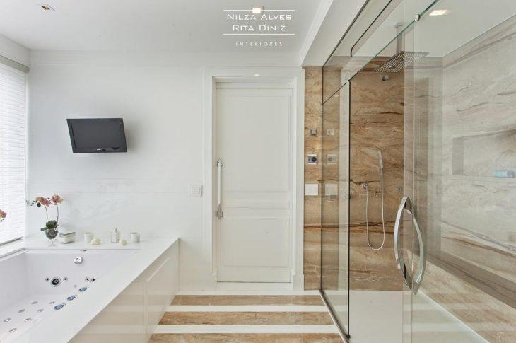 Movel Para Banheiro Azul : Banheiro com decorao de caixotes