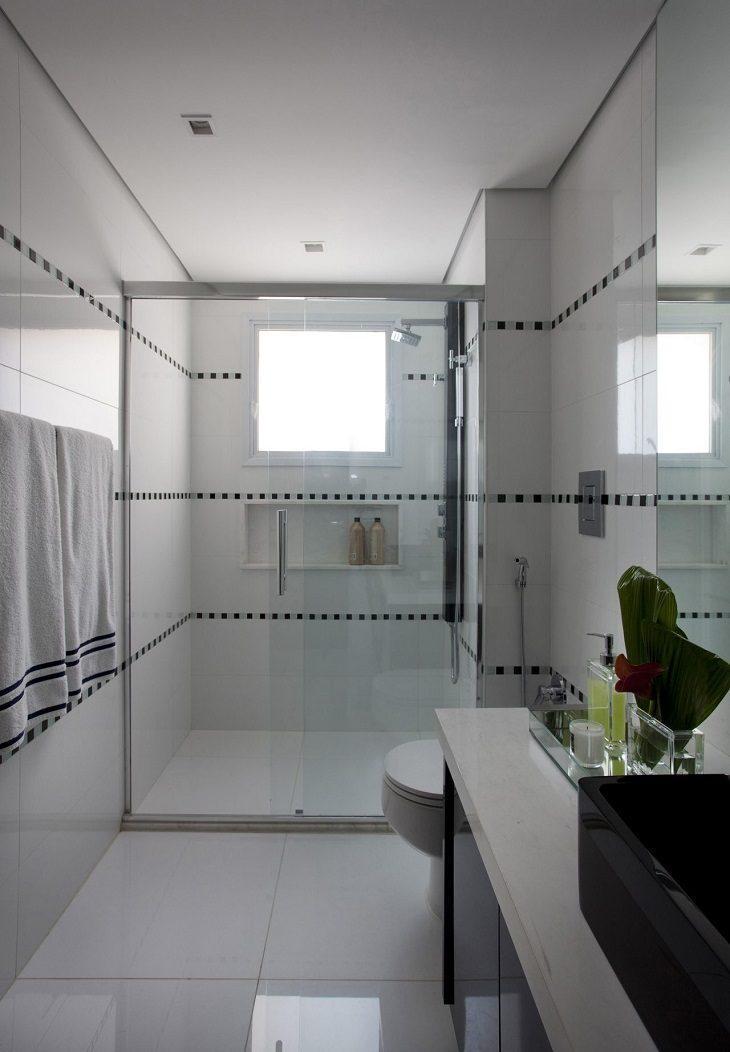 #474683 Banheiro preto e branco estilo e elegância em duas cores 730x1052 px Banheiro Simples Preto E Branco 2018 3799