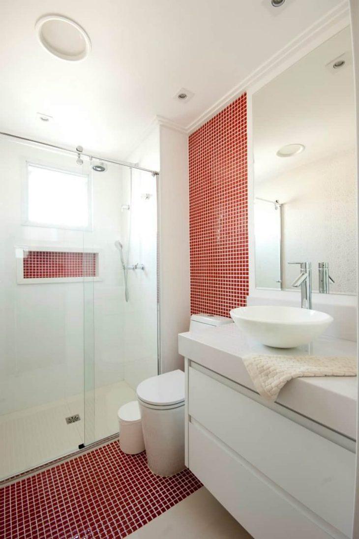 Nicho Banheiro Brasilia : Banheiro vermelho fotos de belos projetos com a cor