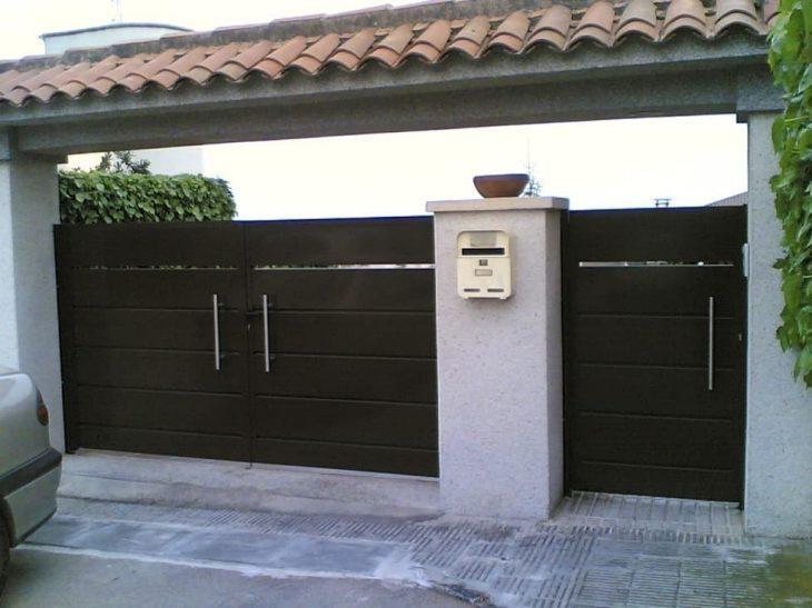 Excepcional 100 modelos de portões para uma fachada mais bonita e interessante KL77