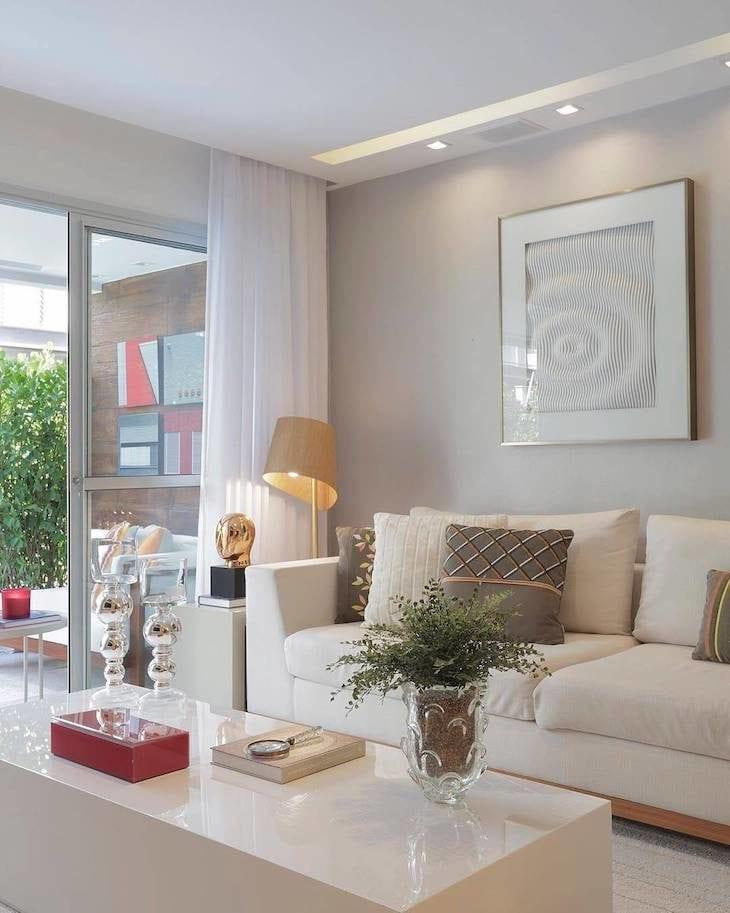 Salas com cores neutras salacores para dar um toque for Cores para sala de estar 2017