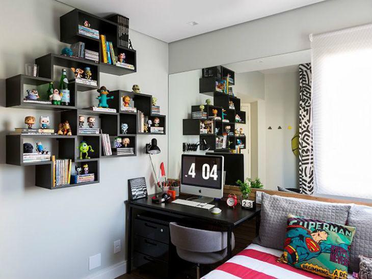 0fb6e8b248c226 Estantes para quartos: 75 ideias para deixar o ambiente ainda mais ...