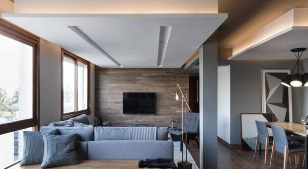 Se você gosta de decoração em tons de cinza, vai amar este apartamento