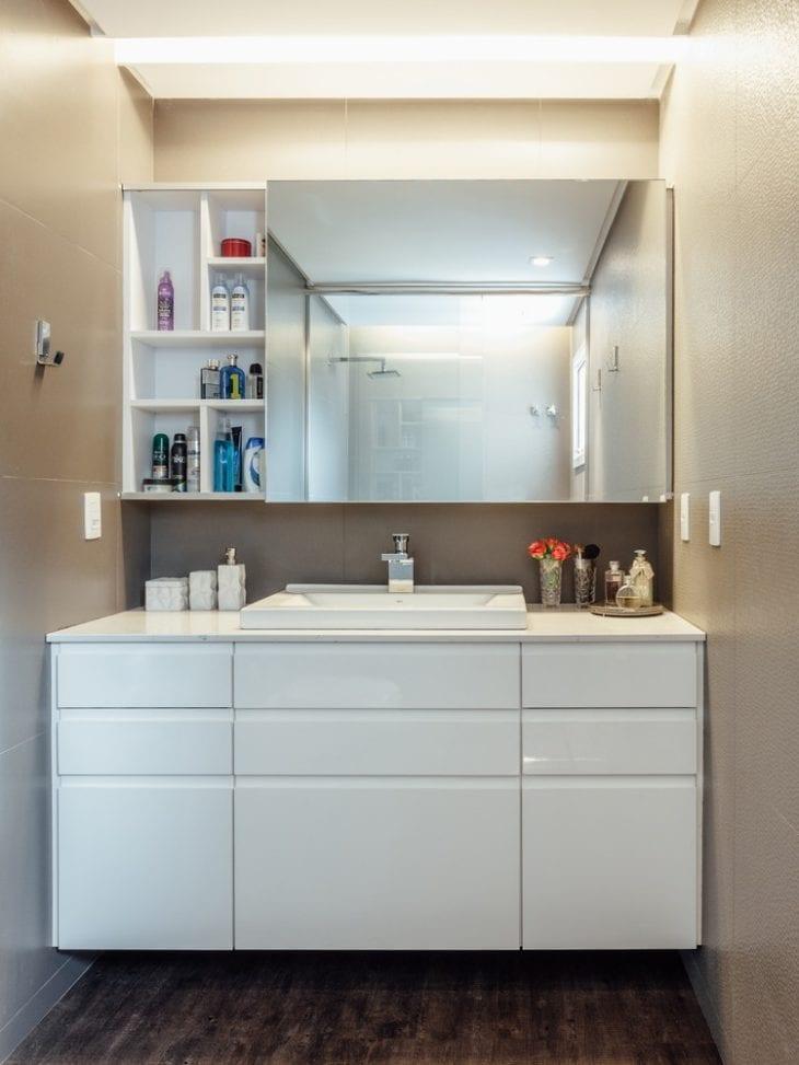 Armario Superior Com Espelho Para Banheiro : Arm?rio para banheiro modelos organizar e decorar