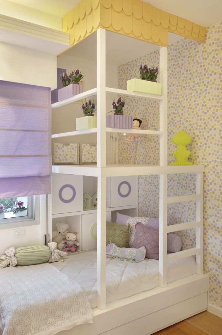 Cama Infantil 50 Criativas Op Es Para Dormir Brincar E Sonhar ~ Quarto Infantil Planejado Princesas