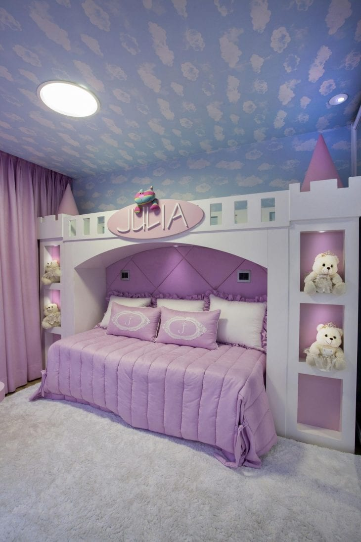 Cama infantil 50 criativas op es para dormir brincar e - Camas infantiles de princesas ...