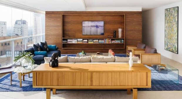 75 ideias para decorar e aproveitar melhor o espaço atrás do sofá