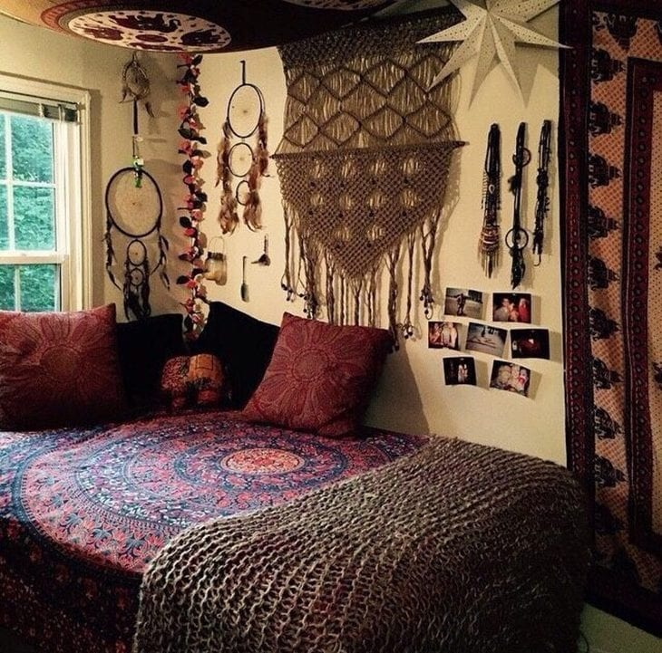 Quarto hippie 30 ideias para transmitir paz e amor for Cuartos hippies
