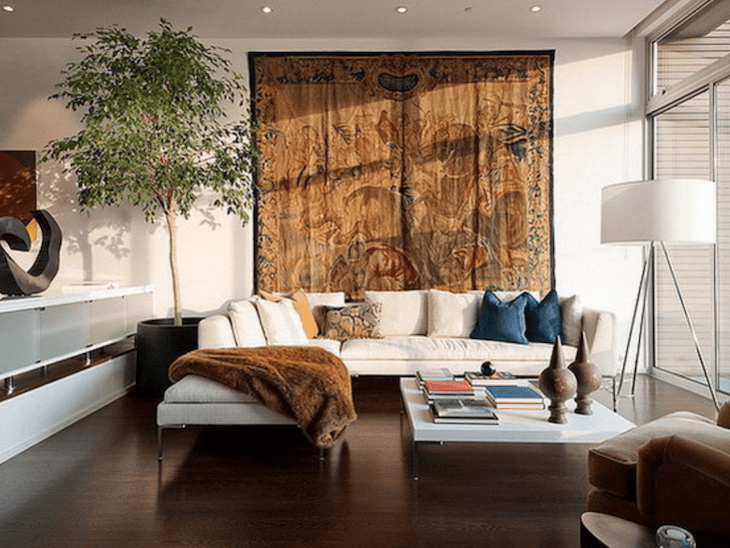 tapete na parede 30 ambientes lindamente decorados com a pe a. Black Bedroom Furniture Sets. Home Design Ideas