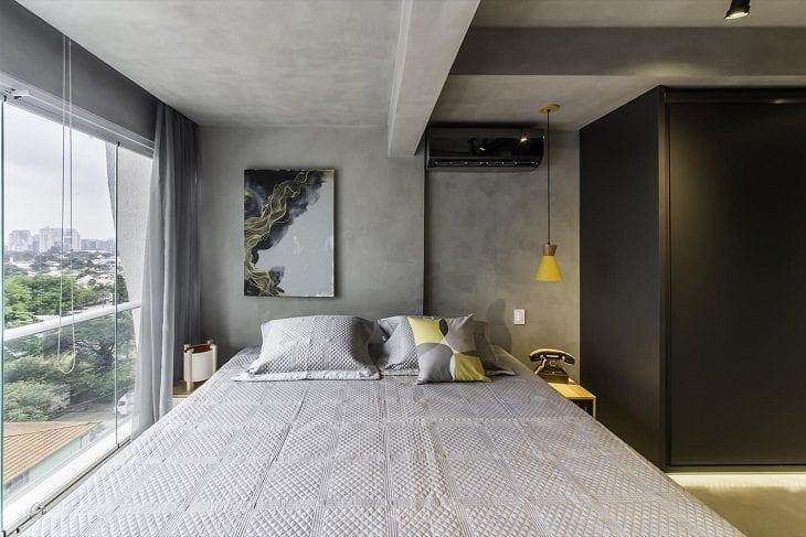 Apartamento de 42m ganha espa os amplos com ajuda de pain is for Mobilia quarto casal usada