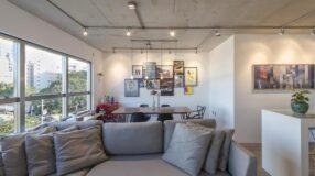 Apartamento com espaços integrados aposta em decoração aconchegante