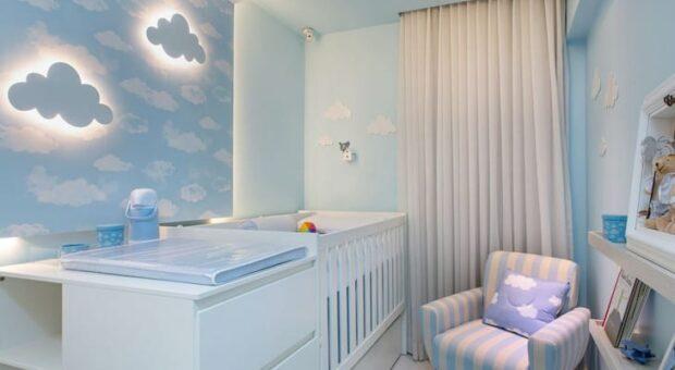 40 quartos de bebê com tema nuvem para você se encantar