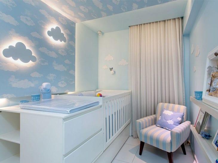 d99a08e87833b7 40 quartos de bebê com tema nuvem para você se encantar