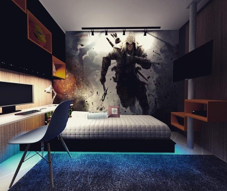 396a546394 Quarto gamer  40 ideias de decoração para quem é apaixonado por jogos
